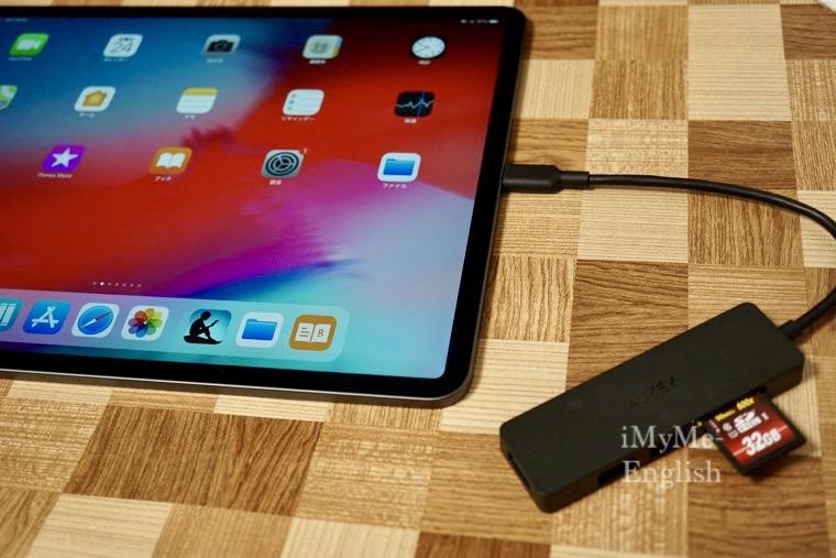 AUKEY USB-C ウルトラスリム USB3.0 SD カードリーダー , iPad Pro 12.9 第3世代 (2018)
