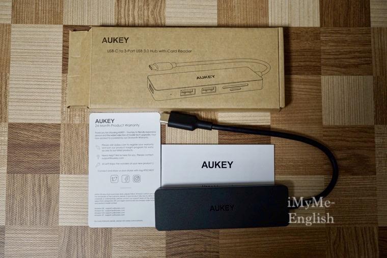 AUKEY USB-C ウルトラスリム USB3.0 SD カードリーダー