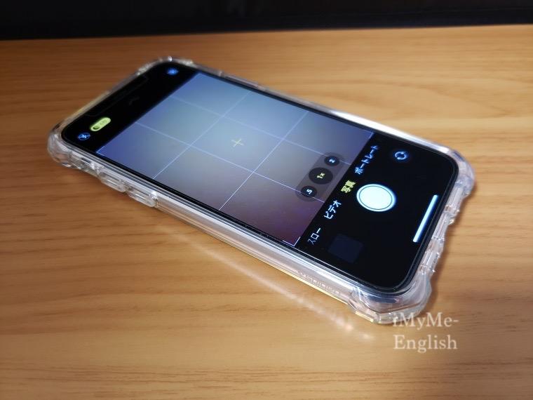 「Spigen iPhone 11 Pro (5.8インチ)専用 ウルトラ・ハイブリッドケース クリアカバー」の写真