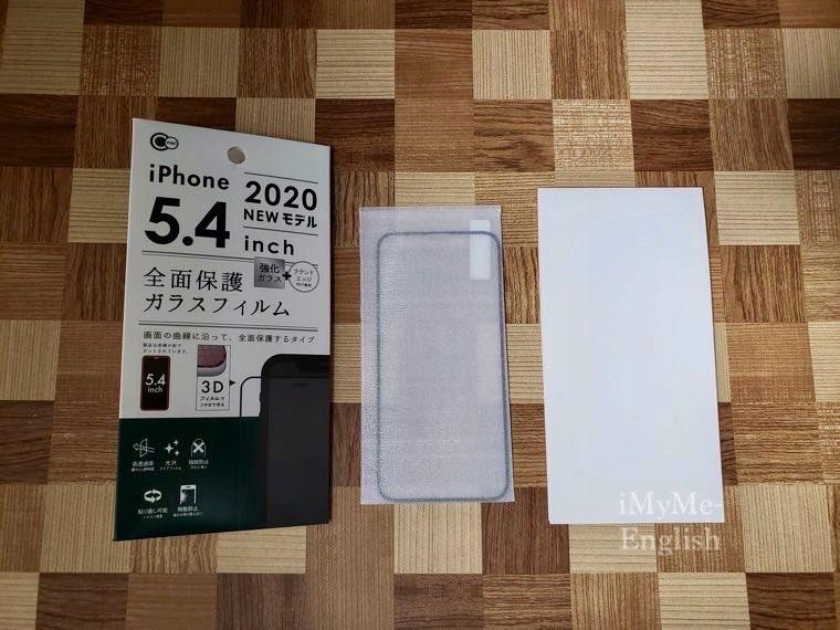 DAISO(ダイソー) iPhone 12 mini専用「保護ガラスフィルム、ソフトタイプクリアケース」の写真3